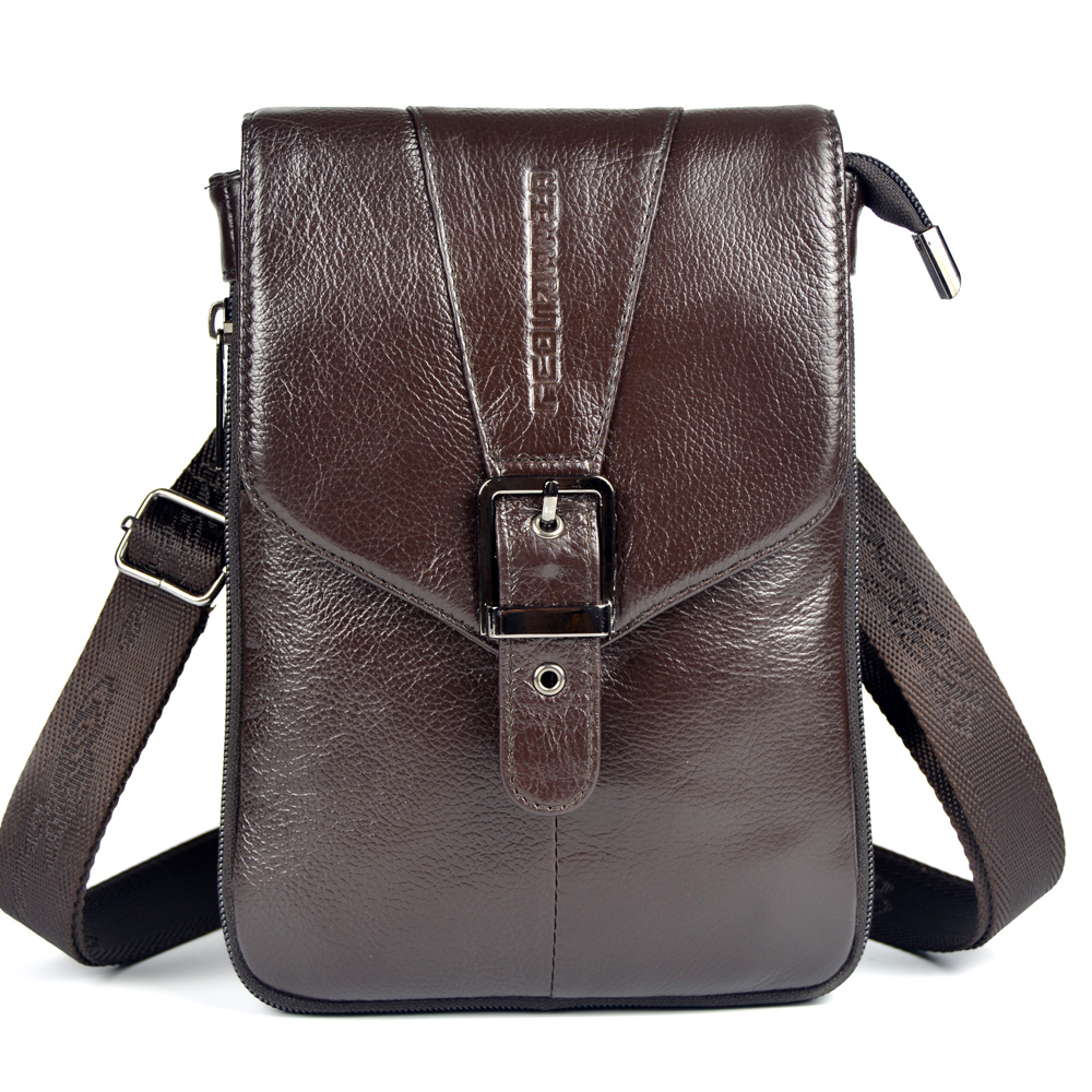 Hot selling genuine leather small messenger bags for men ...