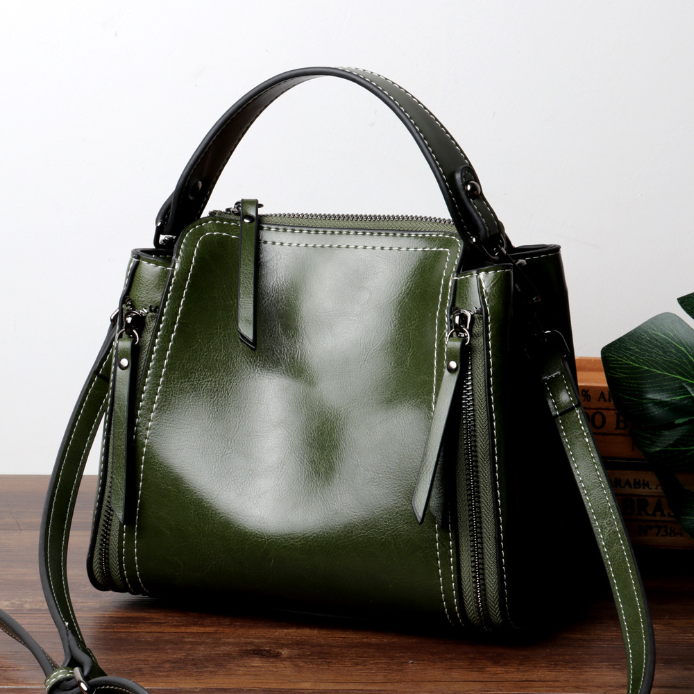 Luxury Genuine Cow Leather Women Tote Bag Female Zipper Handbags Fashion New Women Small Messenger Bags Ladies Solid Sac A Main 6color women genuine leather handbags famous brand handbag messenger small bags cow leather shoulder bag fashion tote sac a main