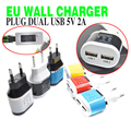 BrankBass EU Plug Dual USB 5V/2A Wall Charger 2 Ports Travel Adapter Charger for iPhone 5s 6 6lus/iPad for Galaxy S3 S4 Note 3