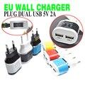 Brankbass eu plug dual usb 5 v/2a adaptador de viagem carregador de parede 2 portas carregador para iphone 5s 6 6lus/ipad para galaxy s3 s4 note 3