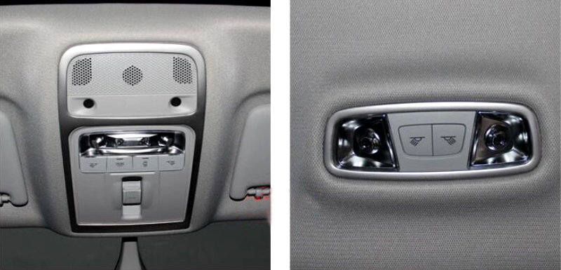 Car Styling Accessories 2pcs Stainless Steel Interior Front+Rear Roof Dome Reading Light Cover Trim For Audi A3 8V 2012-2018 12pc x canbus led interior dome map light kit package for audi a3 s3 8p 2006 2013