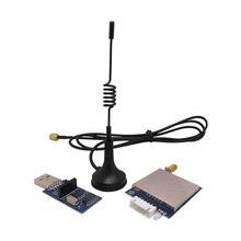 4sets/lot 3km 500mW TTL/RS232/RS485 port RF wireless remote transceiver module kit ( SV651 + sucker antenna +usb bridge board)