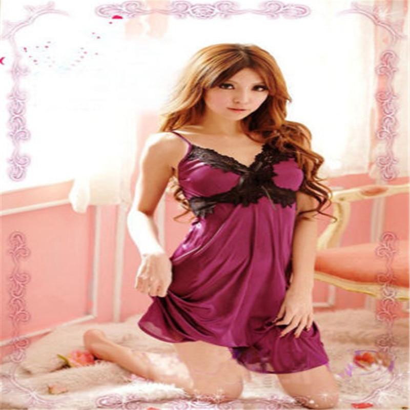 Women Sexy Lace Lingerie Nightwear Underwear Robe Babydoll Sleepwear Dress Women Lingerie   Nightgowns     Sleepshirts   2018