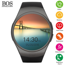 Smartwatch 2016 Здоровья Монитор Сердечного ритма Телефон Сим Сон Спорт Шагомер Сидячий Музыка Bluetooth Ios Android Smart Watch Мужчины