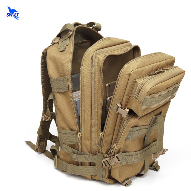 MOLLE Outdoor Sports Tactical Backpack Camping Men's Military Bag Waterproof 1000D Oxford For Travel Cycling Hiking Climbing 45L