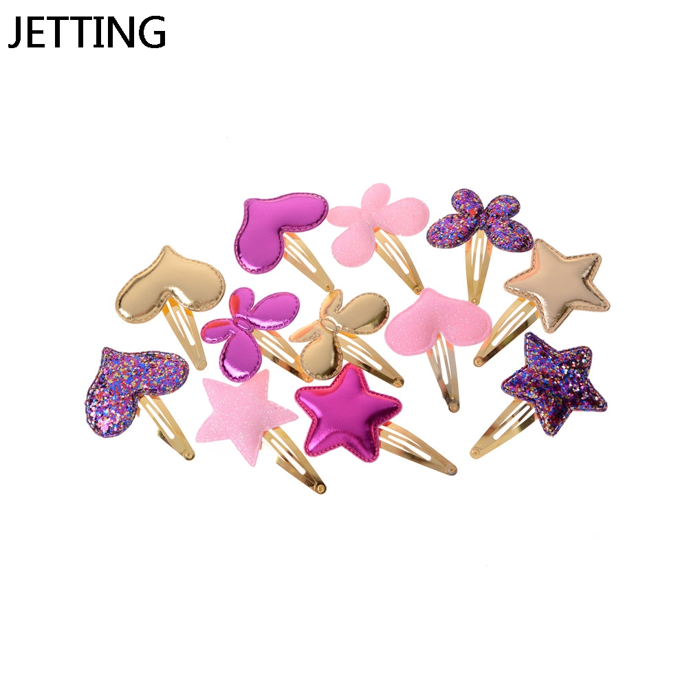Hairclip Headdress Pin Bows Headwear Hairpin Accessories Love Star Baby Girls Kids Hair Clips Priness Hair Ornaments