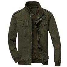 Весенне-осенние куртки-бомберы, пальто, мужские хлопковые повседневные тренировочные военные куртки для мужчин