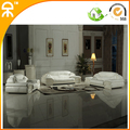 (1+2+3 seat /lot) white genuine leather home sofa for villa #CE-8820