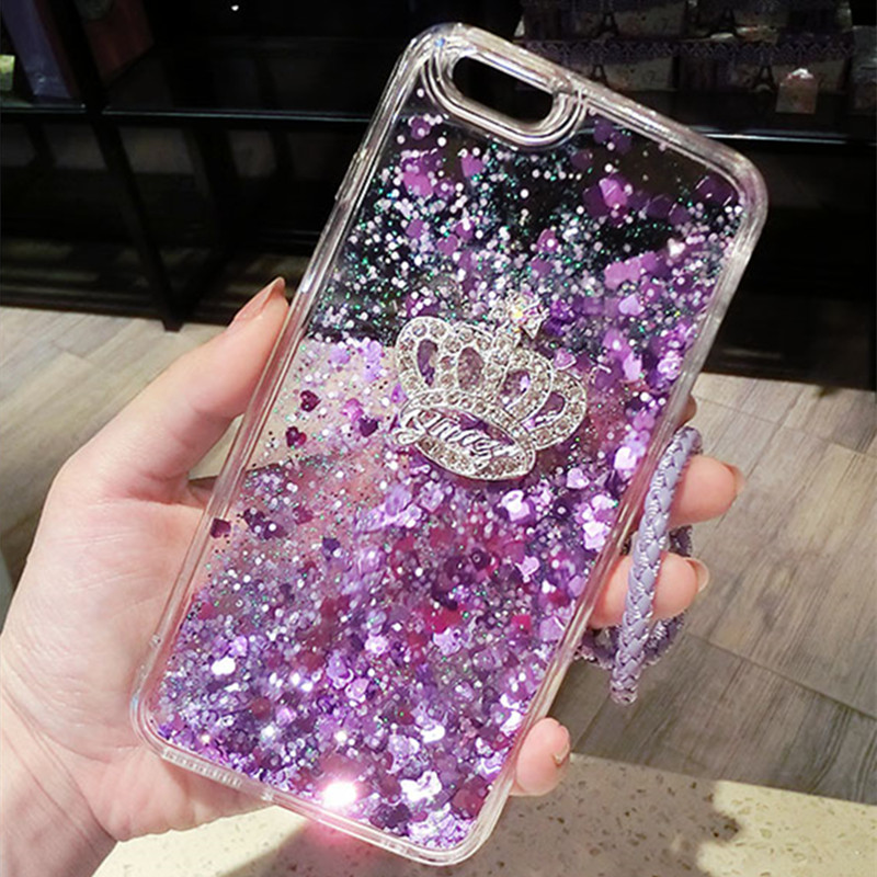 Constructive For Redmi Note 3 Note 4 4x Dynamic Liquid Glitter Sand Quicksand Case For Redmi 4a Bling Crown Cover For Redmi S2 Redmi 5 Plus Excellent In Quality