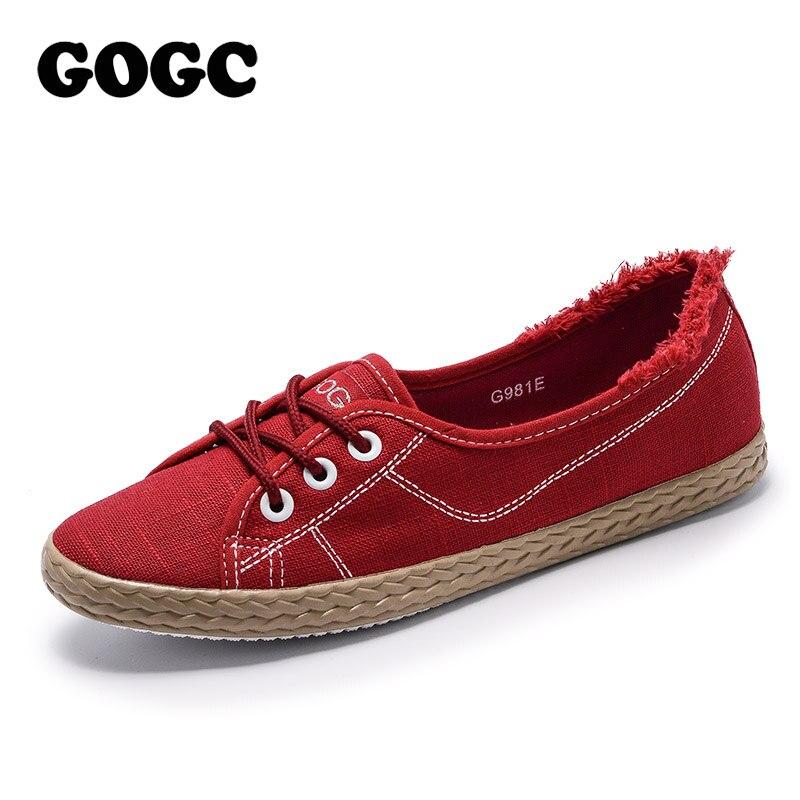 GOGC Brand Spring Summer Shoes Woman Flat Soft Design Shoes Women Luxury 2018 Women Slip on Shoes Ladies Footwear Women Sneakers