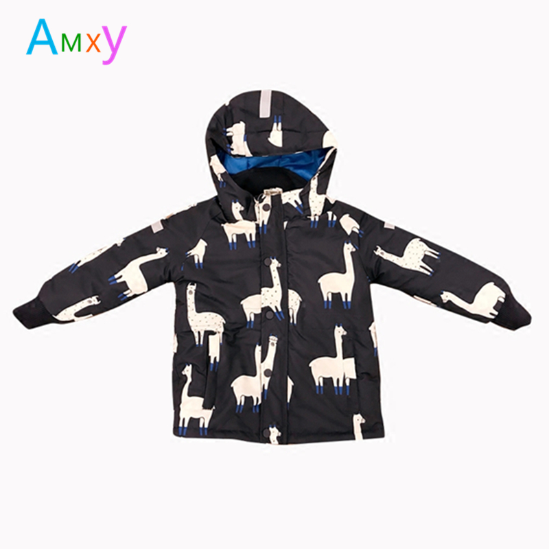 2018 Winter Children Ski Snow Coat Jacket Kids Warm Thick Parkas For Girls Boys Alpaca Hooded Windproof Outerwear Baby Clothes