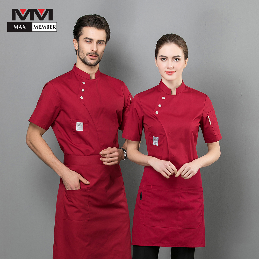 2019 New Chef Jacket Uniform Kitchen Summer Workwear Waiter Waitress Buffet Pub Ropa De Cocina Hotel Restaurant Work Clothes