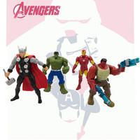4 Pz/set Avengers: Infinity Guerra Hulk Robert Bruce Banner Hulk Rosso Supereroe Iron Man Justice League Thor: The Dark World Giocattolo S570