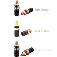 Viborg 4pcs Hifi Audio Binding Post Pure Copper Gold/Rhodium Plated Available BP603 Speaker Terminals
