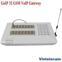 32 SIMs GSM шлюз VoIP шлюза GoIP, смс, 32 фишки, GOIP32, GSM шлюз, звездочка elastix 32 GSM Каналы, маршрутизатор