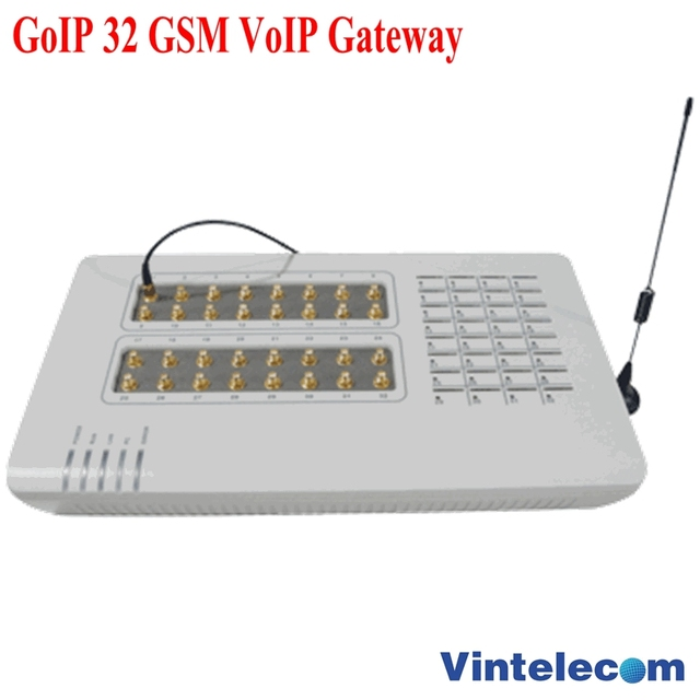 US $832 0 35% OFF|32SIMs GSM VoIP Gateway GoIP Gateway, Bulk SMS,32  Chips,GOIP32,GSM Gateway,Asterisk elastix 32 GSM Channels,router-in VoIP  Gateway