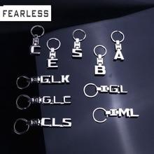 Key Rings For Mercedes Benz A B C E S R CLS GL GLK GLC ML SLK GLA GLE 3D Car Keychain Metal Keyring Key Chain Rings Keychains
