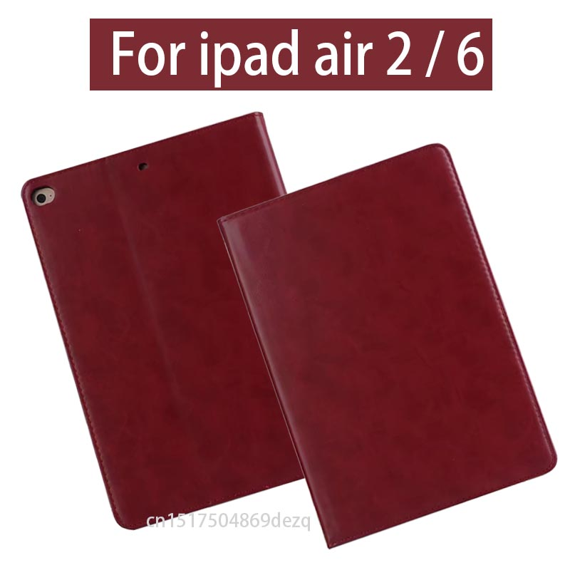 High Quality Smart Case Cover For iPad Air 2 Retina,  Tablet protection PU Leather Cover For Apple iPad 6 Air2 nice soft silicone back magnetic smart pu leather case for apple 2017 ipad air 1 cover new slim thin flip tpu protective case