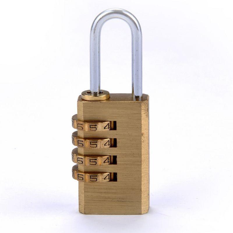 Mini 4 Digits Number Password Code Lock Combination Padlock Resettable For Travelling Bag Door  KA-BEST