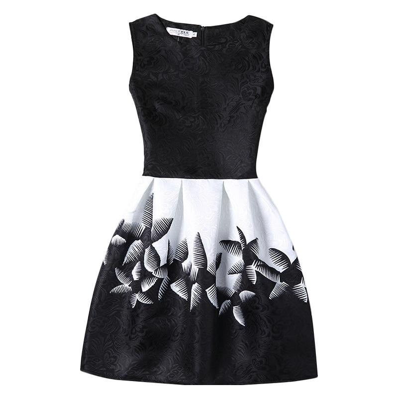 bibihou A-Line Summer Dress for Girls Teenagers Print Sleeveless Girl Princess Party Dress 12-20 Yrs dress girls clothes child print sleeveless midi dress
