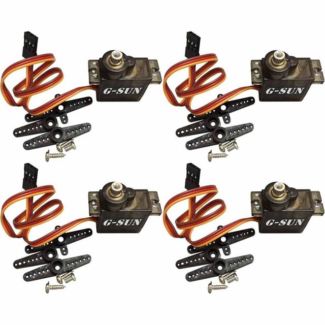 4pcs RC Micro Servo 9g Metal Gear For Arduino robot Align Trex 450 RC Helicopter Airplane