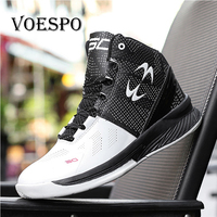 New High Top Basketball Sneakers Men Boys Authentic Basketball Shoe Leather Black Blue Basketball Shoes Trainers