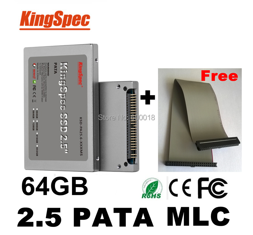Kingspec 2.5   PATA Solid State Drive hd ssd ide 64GB 2.5 disk MLC hard drive Internal Hard Drives ssd 60 gb dropshipping ssd 00aj370 800 gb sata 2 5inch mlc hs internal solid state drive 1 year warranty
