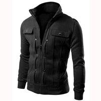 Brand 2018 Cardigan Multi Button Hoodies Men Fashion Tracksuit Male 5 Colors Sweatshirt Mens Purpose Tour