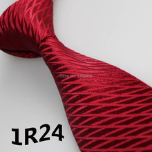 2018 Latest Style Mens Dress Tie Dark Red Deep Wine Grid Striped Design Wedding Dresses Gentlemen