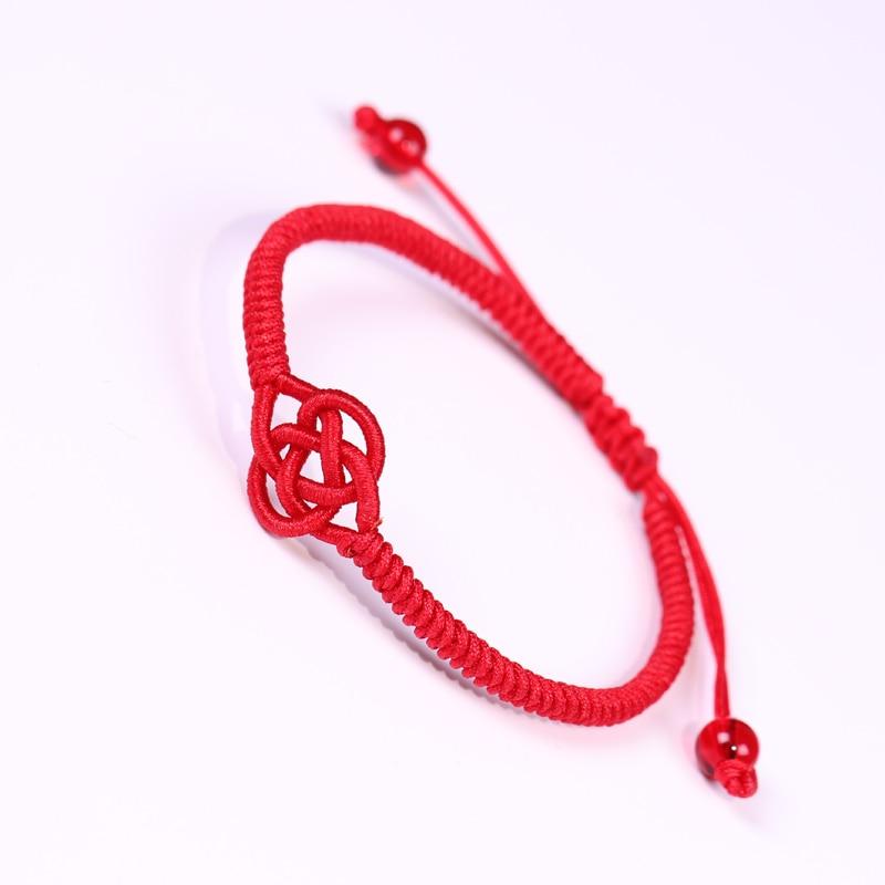 Ethnic Red Rope Knot Bracelet Tibetan Buddhist Lucky Handmade Braided Adjustable Bracelets Bangle For Women Men Unisex Jewelry