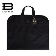 Bagsmartlightweight нейлон черный костюм сумка платье в деловом стиле одежды сумки с вешалка зажим Водонепроницаемый костюм сумка мужская костюм дорожная сумка