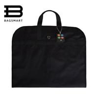 2016 Lightweight Black Nylon Suit Bag Business Dress Garment Bags With Hanger Clamp Waterproof Suit Bag