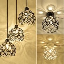 Artpad White Black Modern Crystal Pendant Lights AC110V-220V Metal E27 LED Suspension Lamp For Dining Room Living Room Luminaria все цены