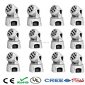 12 pieces/lot White mobile head led wash 7x12w rgbw moving head light/dj equipment powerful mini dmx moving light disco dj light