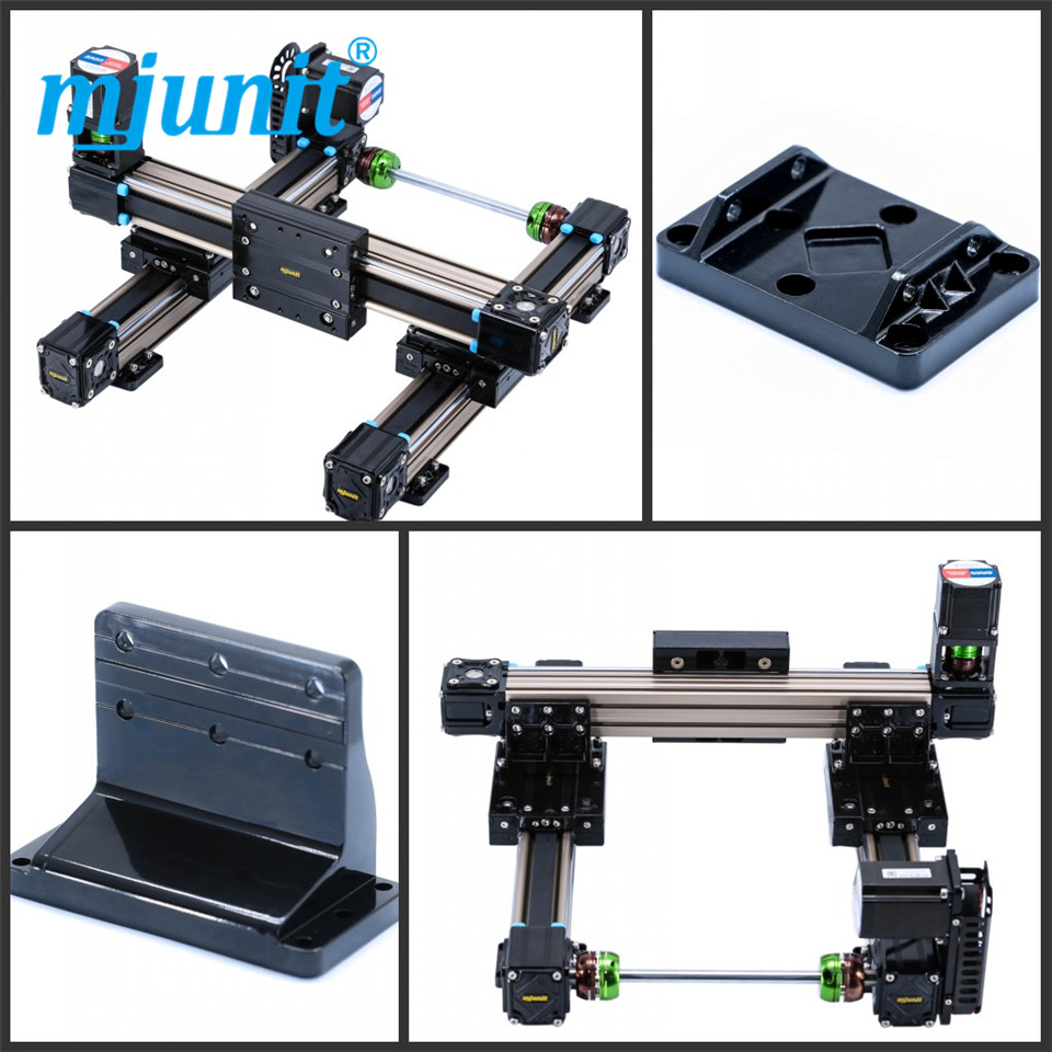 mjunit MJ50 xy axis with 200x200mm stroke length Linear Units with Belt Drive and Slide Guide Wheel Guide direct mount