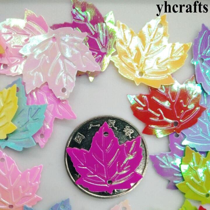 20gram/Lot 22mm Milk Maple Leaf Sequin Craft Material Kindergarten Crafts Intelligence Creative Activity Item Kids Handy Work