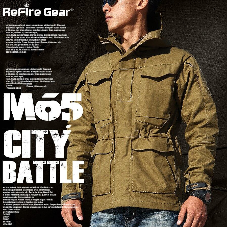 Erkek Kıyafeti'ten Ceketler'de M65 İNGILTERE ABD Ordu Kıyafetleri Rahat Taktik Rüzgarlık Erkekler Kış Sonbahar Su Geçirmez Uçuş Pilot Ceket Hoodie Askeri Alan Ceket'da  Grup 3