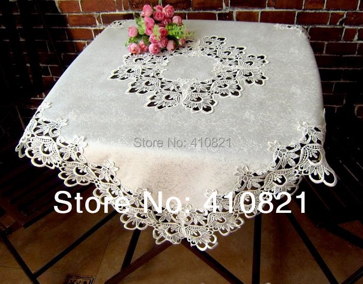 85x85 square pure white lace tablecloth table cover with for 85 square tablecloth