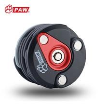PAW Pocket Storage Key Lock Cycle Foldable Round Chain Lock W/ Bracket Mount on Bike Handy MTB Road Safe Cycling