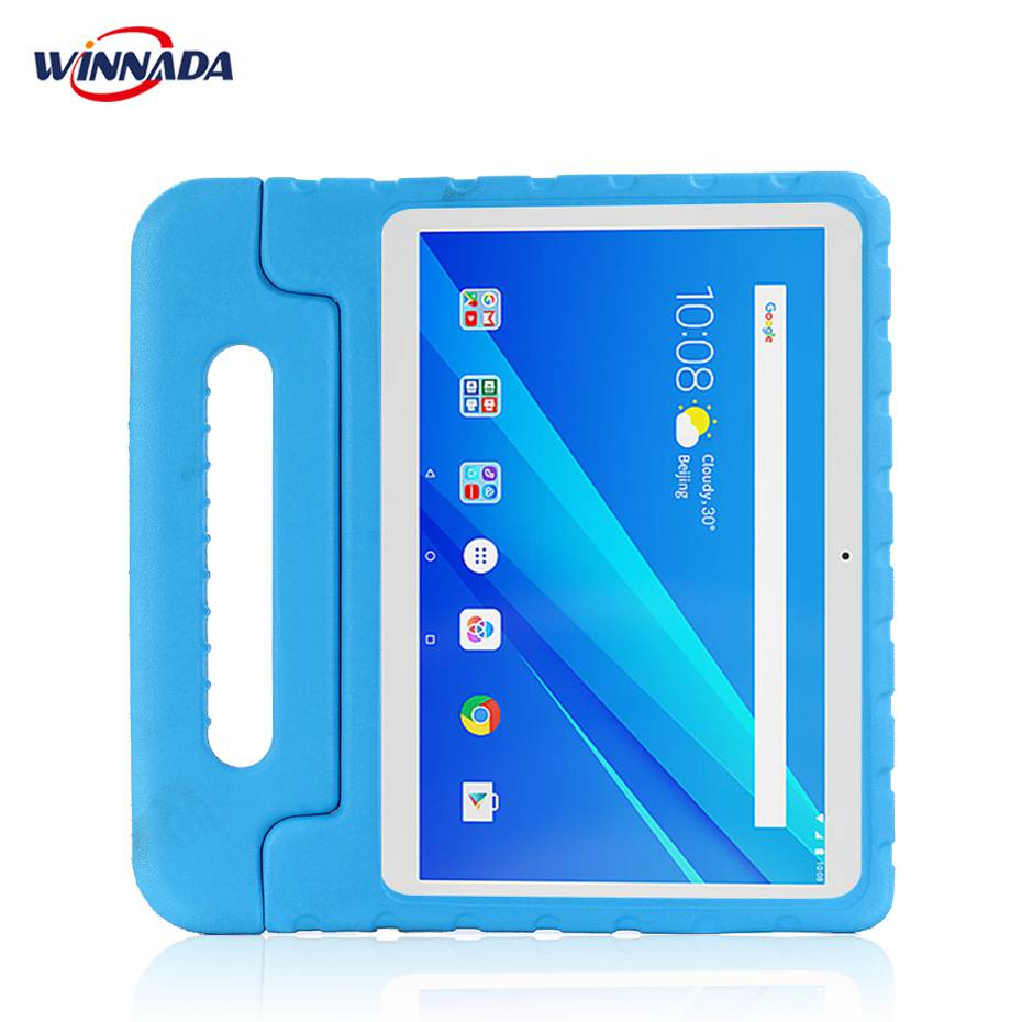 the latest 339b7 3bcf6 US $14.36 30% OFF|For Lenovo tab 4 10 / 10 PLUS case hand held full body  Children kids EVA Handle stand tablet cover for TB X304F/N TB X704F/N-in ...