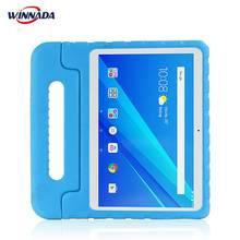 Lenovo tab 4 10 için/10 artı durumda el tam vücut çocuk çocuklar EVA kolu standı tablet kapak için Lenovo tab 4 10 PLUS