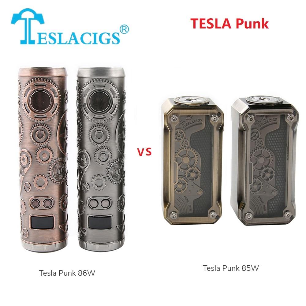 Chaude D'origine Tesla Punk 86 W Mod vs Tesla Punk 85 W Boîte Mod batterie 18650 batterie sculpture apparence e cig vapoteuse vs Tesla Nano