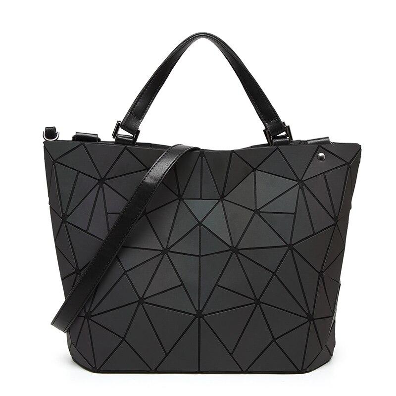 새로운 여성 빛나는 가방 sac 가방 홀로그램 다이아몬드 토트 기하학 누비 이불 어깨 가방 레이저 일반 폴딩 핸드백 볼소