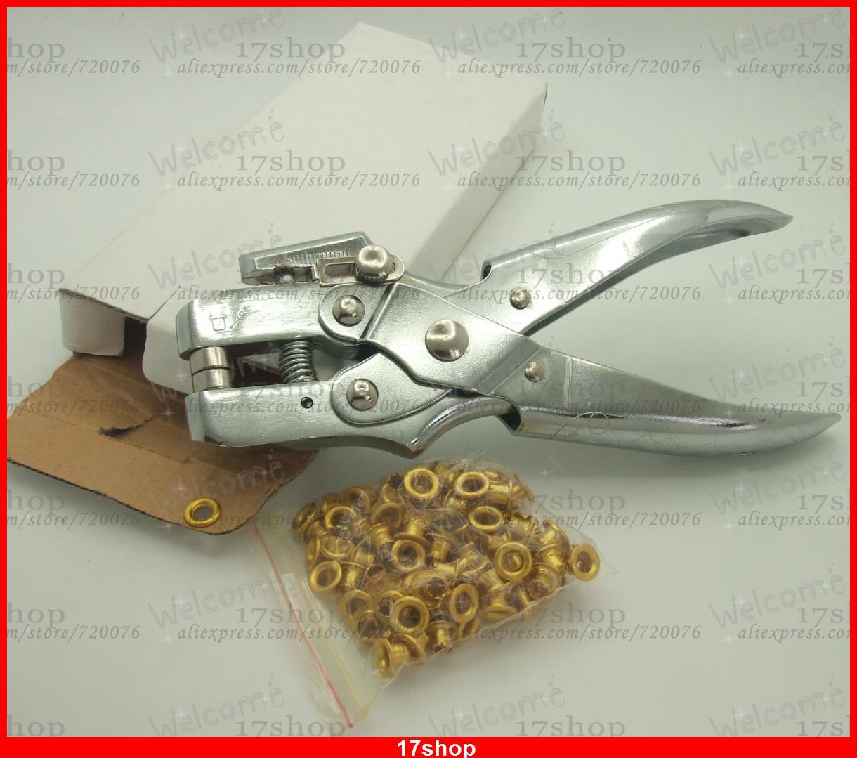 Leather Paper Hole Punch Pliers Eyelet Pliers 5mm jack Metal Pliers Eyelet Buckl  цены