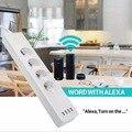 ЕС Смарт Wi-Fi Разъем питания с 4 штекерами и 4 usb-порта совместим с Amazon Alexa и Google Nest