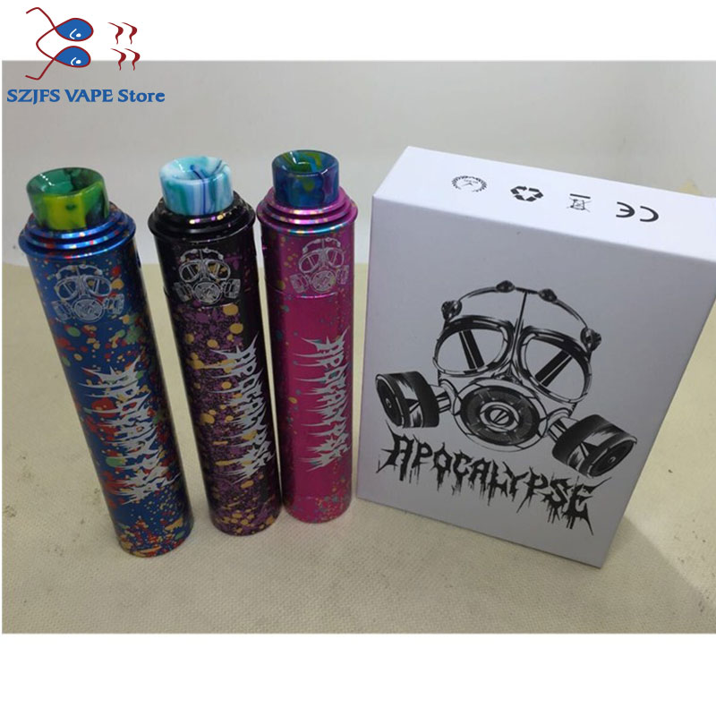 Apocalypse Gen2 Mod Kit Starter Kit With 24mm Diameter Mechanical Vape Mod And RDA Atomizer 510 Thread Colors Vaporizer Vape Kit