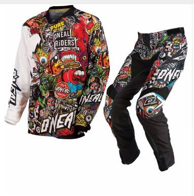 Fit for ONEAL MAYHEM 2018 CRANK BLACK MULTICOLOURED ENDURO MX OFF ROAD  MOTOCROSS KIT Jersey+