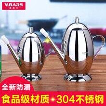 Мода 304 из нержавеющей стали яйцо форма масло может большой емкости бытовые герметичной уксус соус бутылки кухонный инвентарь