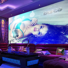 Sexy beauty nightclub KTV tooling background wall professional production murals wholesale wallpaper custom poster photo