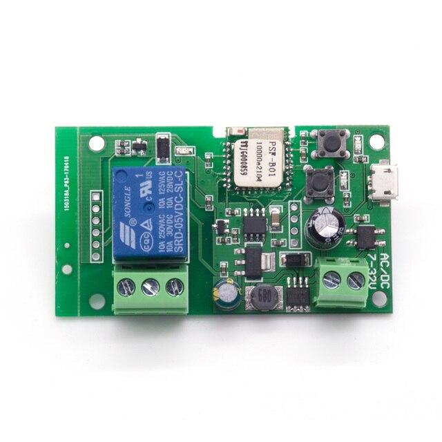 Sonoff החכם WiFi שלט רחוק DIY מודול DC5V 12 V 32 V מתג אלחוטי אוניברסלי נעילה עצמית מתג Wifi טיימר לבית חכם